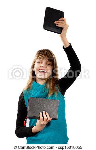 e-book reader and book - csp15010055