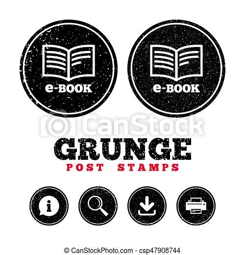 E Book Sign Icon Electronic Book Symbol