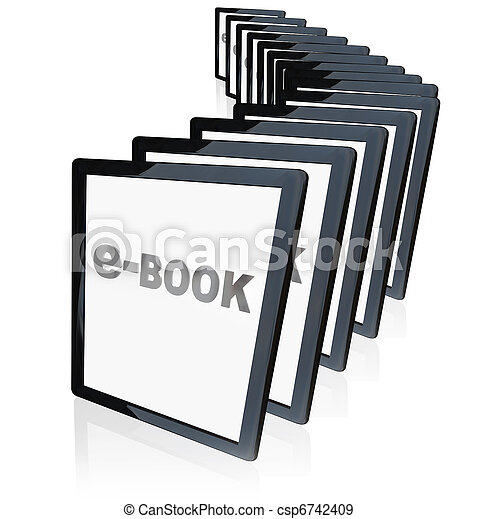 e-Books Tablet Readers New Technology Growing in Popularity   - csp6742409