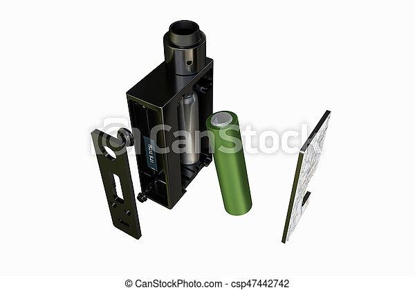 e-cig, doboz, hadügyminisztérium - csp47442742