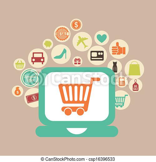 e-commerce  - csp16396533