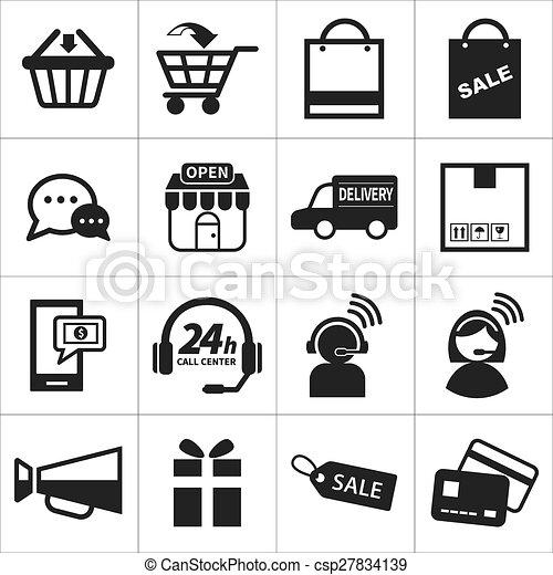 e-commerce icon set - csp27834139