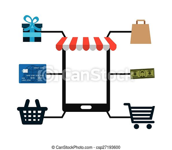 e-commerce icon  - csp27193600