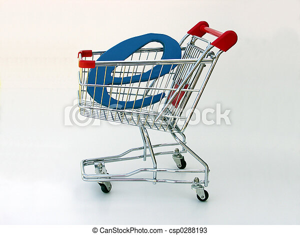 E-Commerce shopping cart (side view) - csp0288193