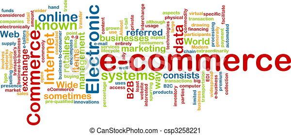 E-commerce word cloud - csp3258221