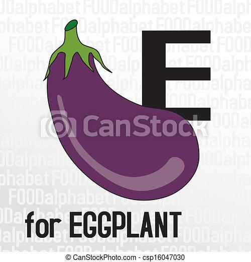 E for eggplant the food alphabet e for eggplant the food alphabet csp16047030 altavistaventures Images