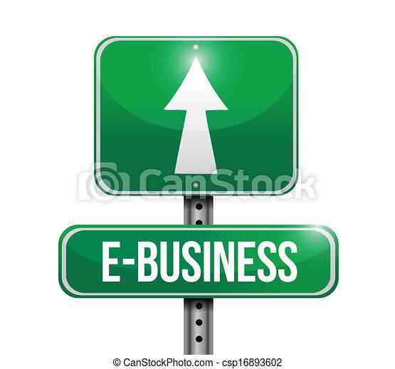 e-handlowy, projektować, droga, ilustracja, znak - csp16893602