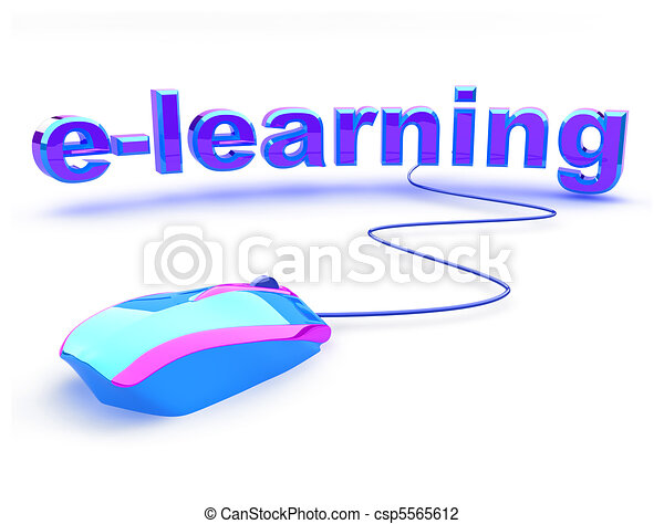 E learning text with mouse - csp5565612