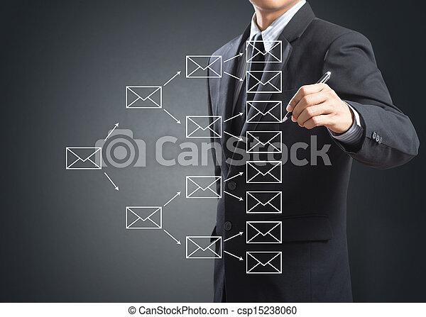 e-mail, écriture, signe - csp15238060
