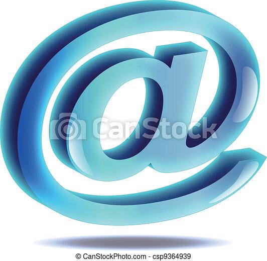 e-mail, ícone - csp9364939