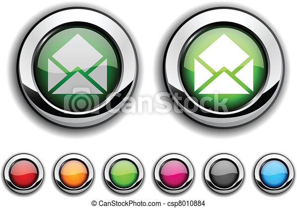 e-mail button. - csp8010884