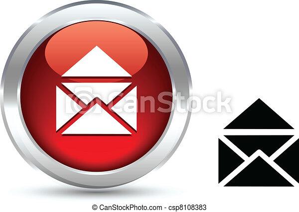 e-mail button. - csp8108383