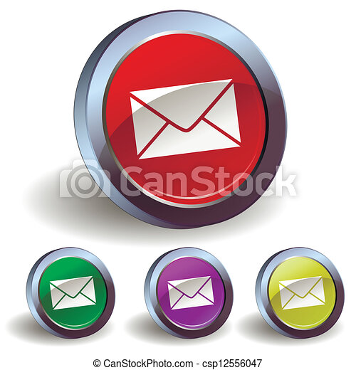 E-mail button icon - csp12556047