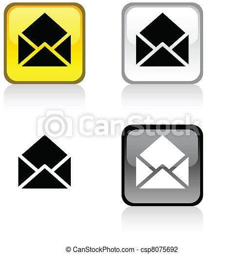 e-mail button. - csp8075692