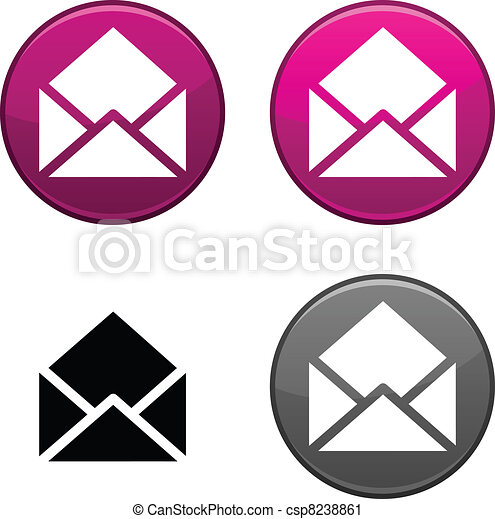 e-mail button. - csp8238861