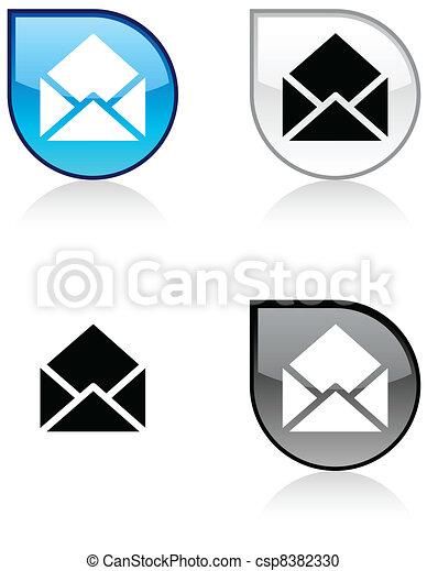 e-mail button. - csp8382330