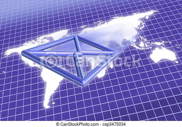 E mail envelope world map e mail envelope flying over drawing e mail envelope world map csp3475034 gumiabroncs Images