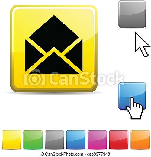 e-mail glossy button. - csp8377348
