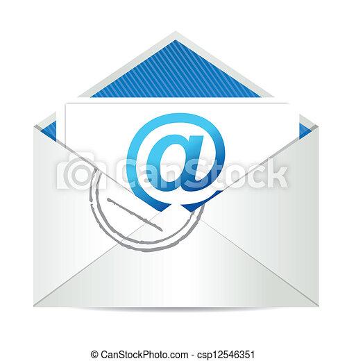 e-mail, gráfico, letra, ilustração - csp12546351
