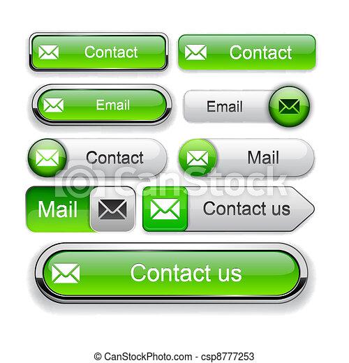 E-Mail high-detailed web button collection. - csp8777253