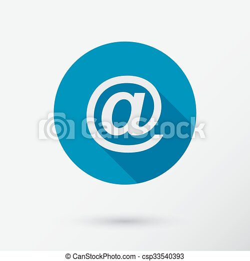 E-mail icon in flat style. - csp33540393