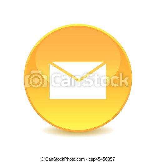 E-mail icon. Internet button on white background. - csp45456357