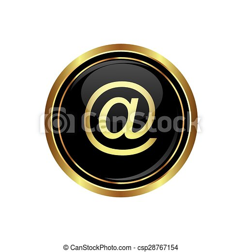 E mail icon on the black - csp28767154