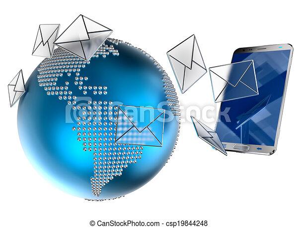 E-mail o SMS enviado al teléfono móvil - csp19844248