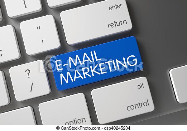 E-Mail Marketing - Blue Keypad. 3D. - csp40245204