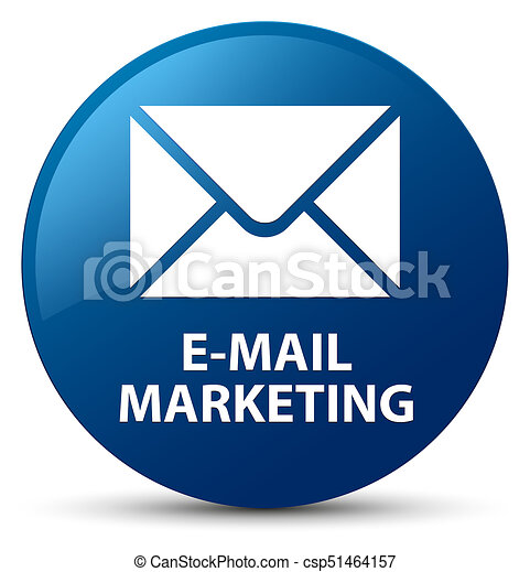 E-mail marketing blue round button - csp51464157