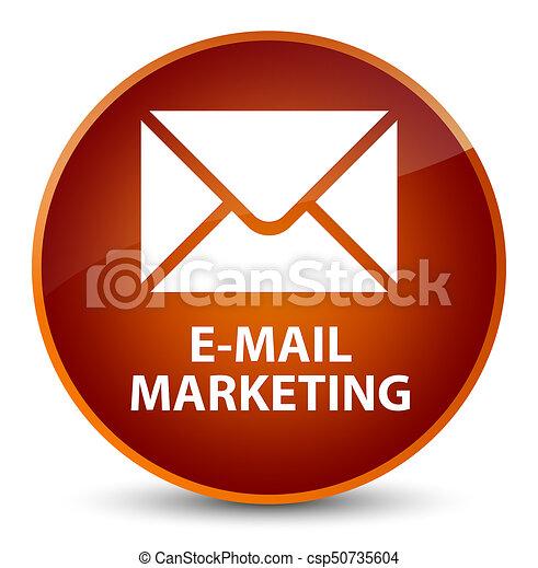 E-mail marketing elegant brown round button - csp50735604