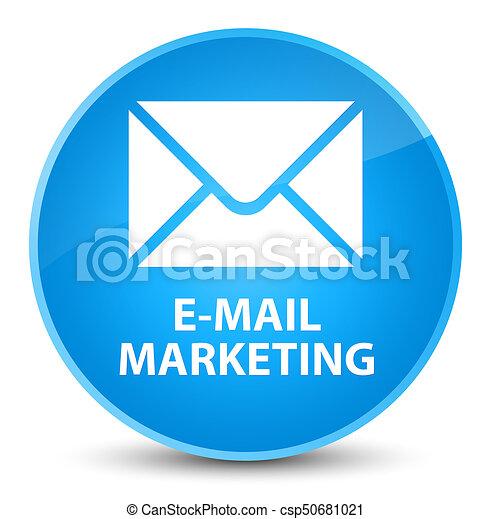 E-mail marketing elegant cyan blue round button - csp50681021