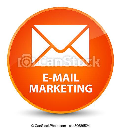 E-mail marketing elegant orange round button - csp50686524