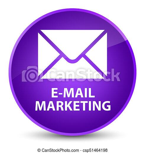 E-mail marketing elegant purple round button - csp51464198