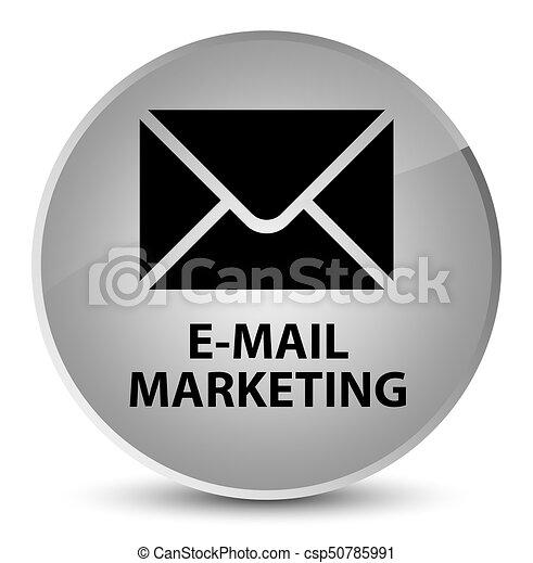 E-mail marketing elegant white round button - csp50785991