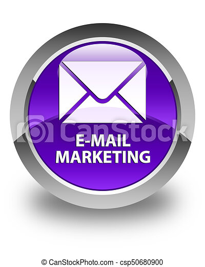 E-mail marketing glossy purple round button - csp50680900