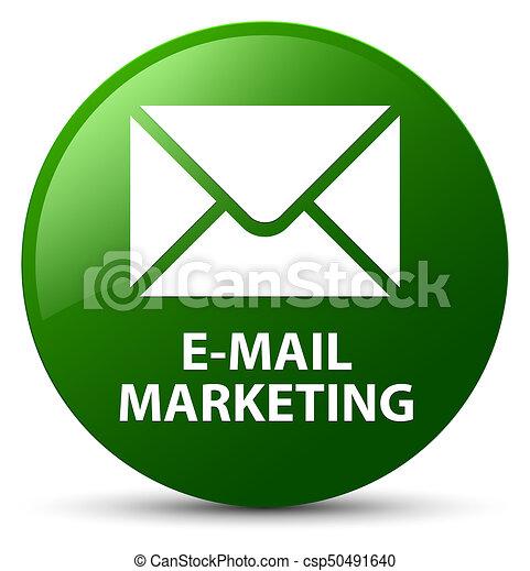 E-mail marketing green round button - csp50491640