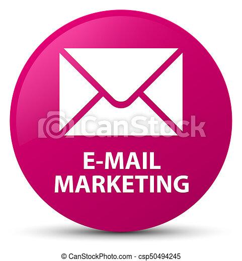 E-mail marketing pink round button - csp50494245