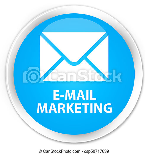 E-mail marketing premium cyan blue round button - csp50717639