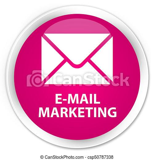 E-mail marketing premium pink round button - csp50787338