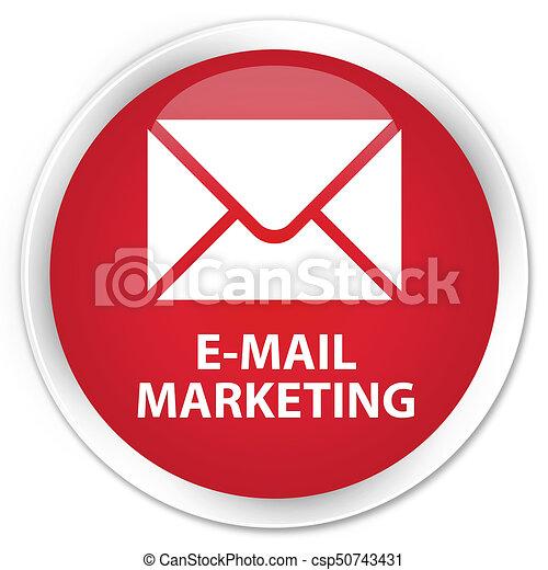 E-mail marketing premium red round button - csp50743431