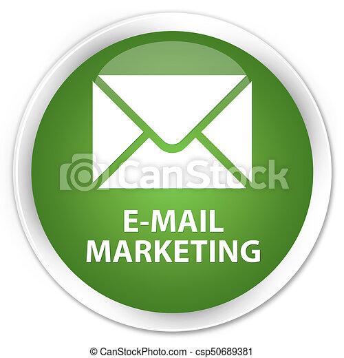 E-mail marketing premium soft green round button - csp50689381