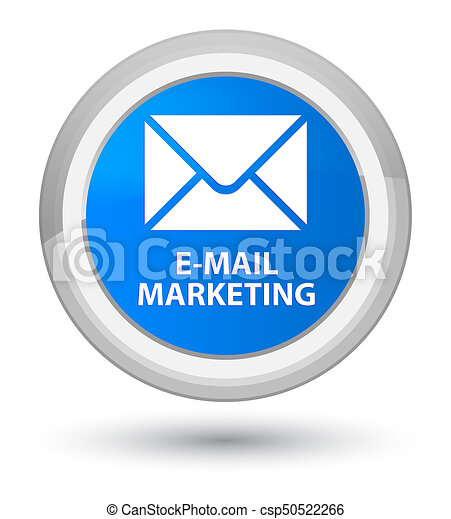 E-mail marketing prime cyan blue round button - csp50522266