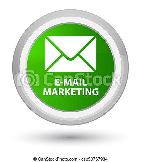 E-mail marketing prime green round button - csp50767934