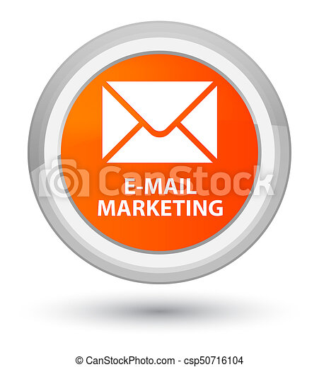 E-mail marketing prime orange round button - csp50716104