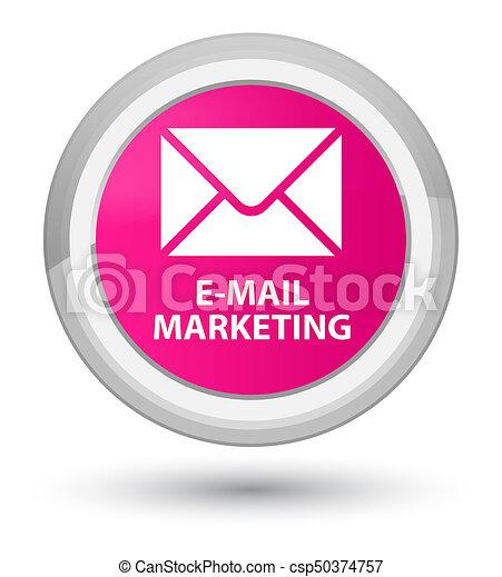 E-mail marketing prime pink round button - csp50374757