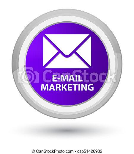 E-mail marketing prime purple round button - csp51426932