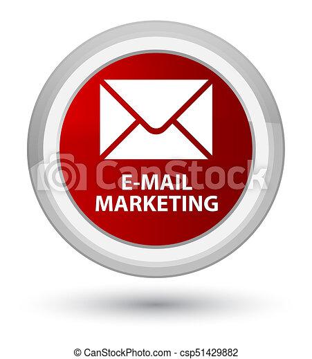 E-mail marketing prime red round button - csp51429882