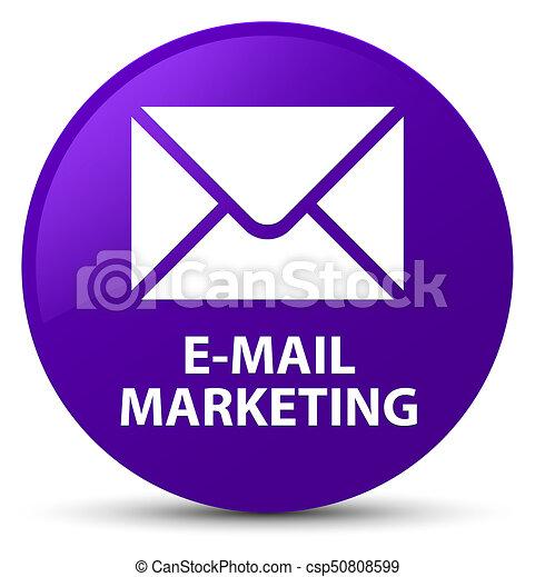 E-mail marketing purple round button - csp50808599