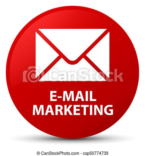 E-mail marketing red round button - csp50774739